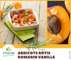 Recette abricot rotis romarin vanille
